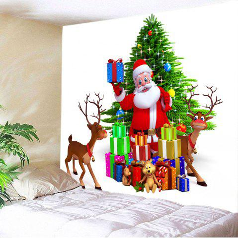 Cheap Christmas Tree Santa Gifts Print Tapestry Wall Hanging Art Decoration - W59 INCH * L51 INCH COLORMIX Mobile