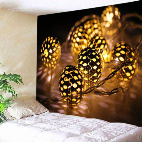 Chic Christmas String Lights Print Tapestry Wall Hanging Art Decoration