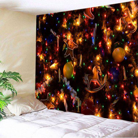 Affordable Christmas Tree Ornaments Print Tapestry Wall Hanging Art Decoration COLORMIX W79 INCH * L71 INCH