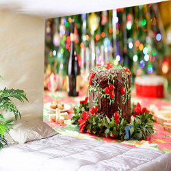 Christmas Cake Print Tapestry Wall Hanging Art Decoration -