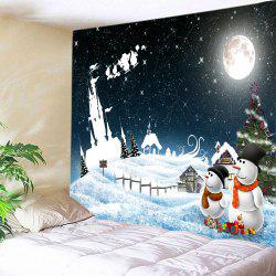 Christmas Starry Sky Print Tapestry Wall Hanging Art Decoration - COLORMIX W59 INCH * L51 INCH