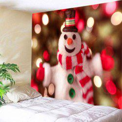 Snowman Christmas Print Tapestry Wall Hanging Art Decoration -