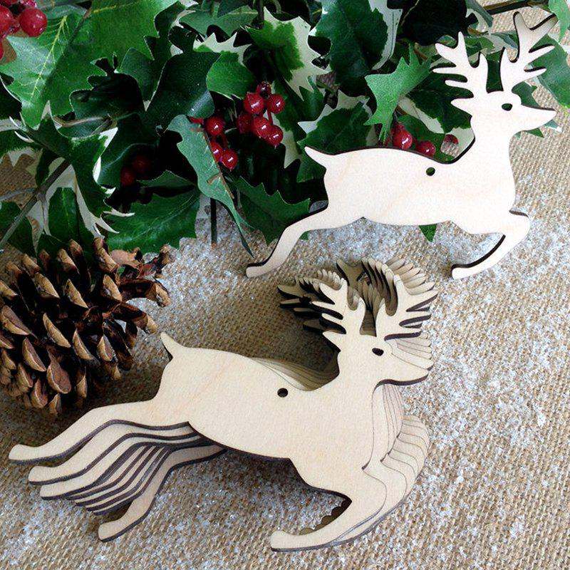 Christmas Tree Decorations 10 Pcs Wooden DeersHOME<br><br>Color: PALOMINO; Event &amp; Party Item Type: Party Decoration; Occasion: Christmas; Material: Wooden; Weight: 0.0870kg; Package Contents: 10 x Wooden Deers (Pcs);