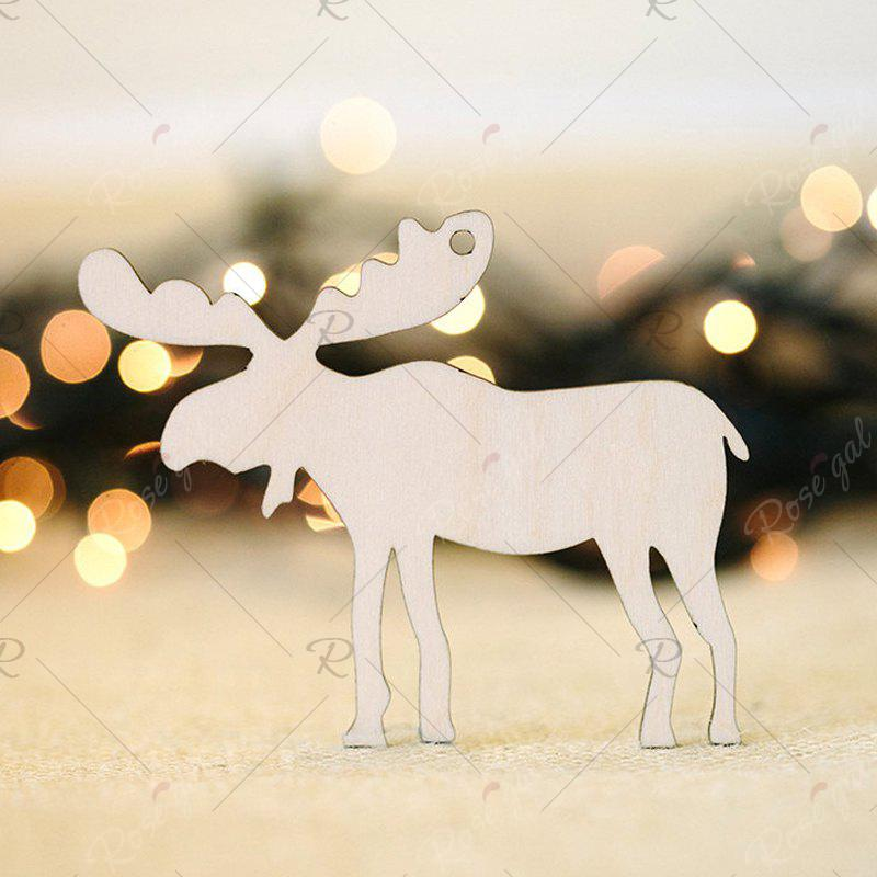 10 Pcs Christmas Tree Decorations Wooden DeersHOME<br><br>Color: PALOMINO; Event &amp; Party Item Type: Party Decoration; Occasion: Christmas; Material: Wooden; Weight: 0.0870kg; Package Contents: 10 x Wooden Deers (Pcs);