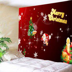 Christmas Tree Letter Print Tapestry Wall Hanging Art Decoration -