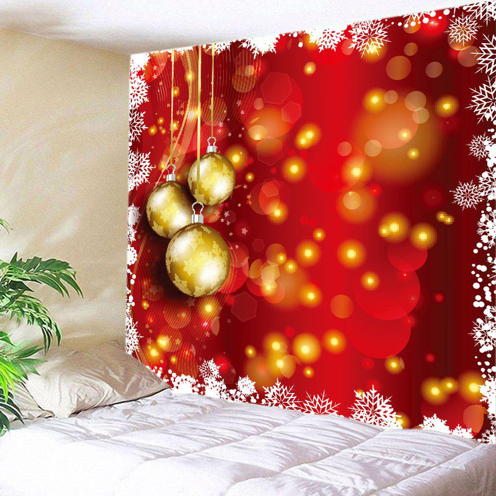 Christmas Baubles Dot Print Tapestry Wall Hanging Art DecorationHOME<br><br>Size: W91 INCH * L71 INCH; Color: RED; Style: Festival; Theme: Christmas; Material: Polyester; Feature: Washable; Shape/Pattern: Ball; Weight: 0.4000kg; Package Contents: 1 x Tapestry;