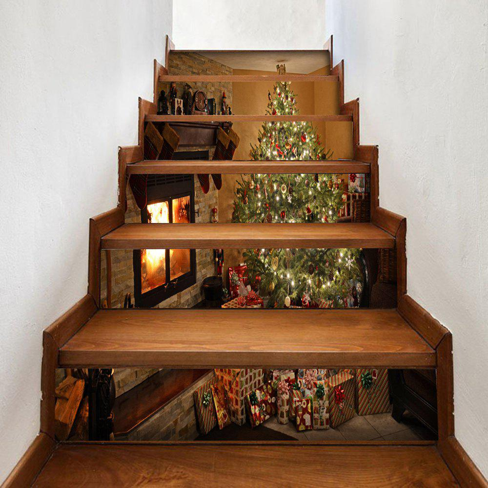 outfits diy christmas tree fireplace 3d stair stickers