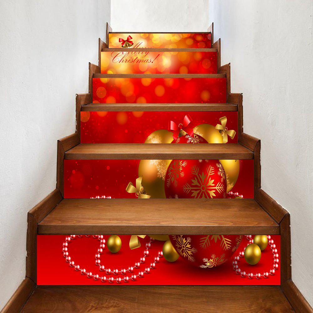 Cheap Christmas Greeting Baubles Pattern Decorative Stair Stickers