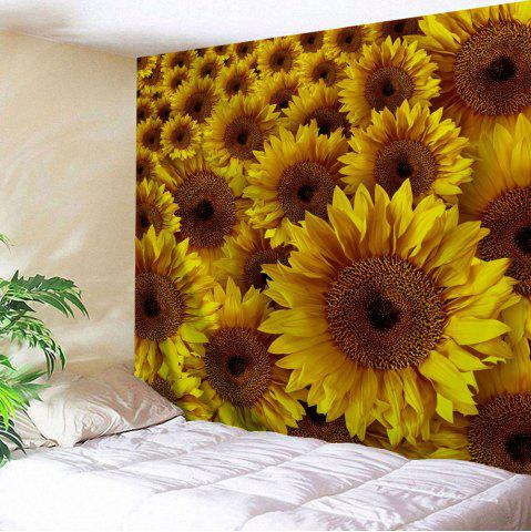 Yellow W91 Inch * L71 Inch Wall Decor Sunflowers Pattern Tapestry ...
