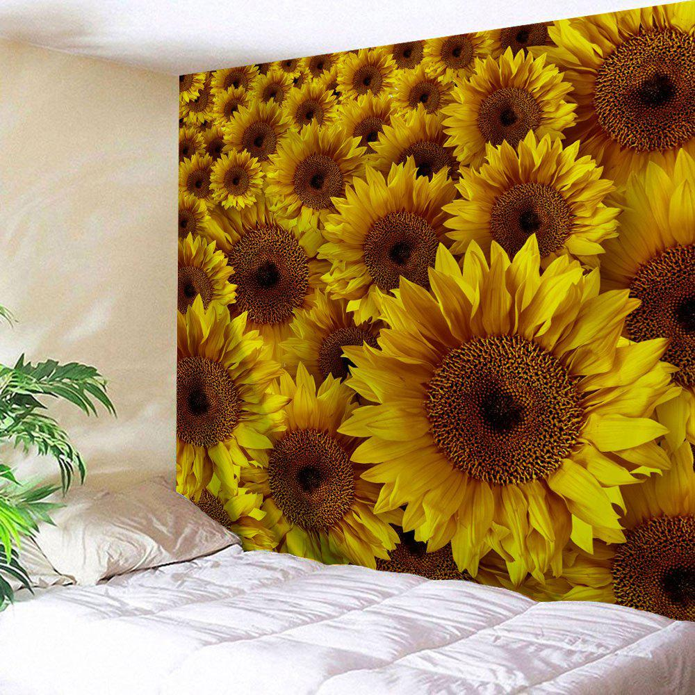 Yellow W59 Inch * L59 Inch Wall Decor Sunflowers Pattern Tapestry ...