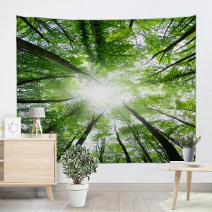 Sunshine Forest Print Wall Tapestry -