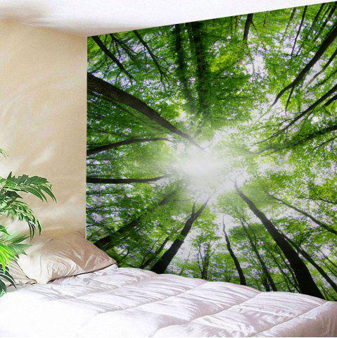 Online Sunshine Forest Print Wall Tapestry