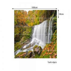 Mountain Waterfall Pattern Decorative Stair Stickers -