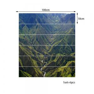 River In Mountains Pattern Decorative Stair Stickers -