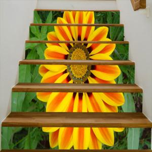Sunflower Pattern Decorative Stair Stickers -