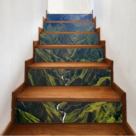 Discount River In Mountains Pattern Decorative Stair Stickers