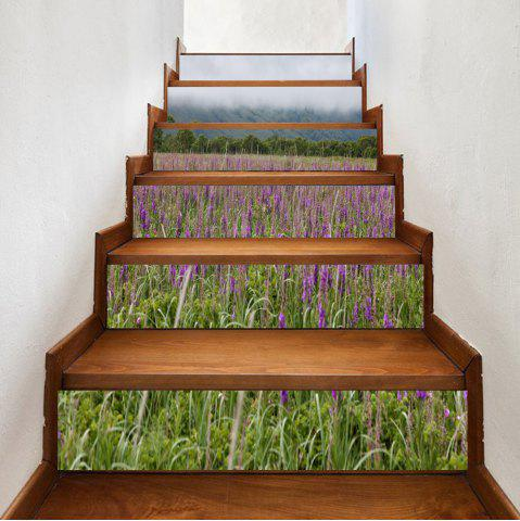 Outfits Mountains Lavender Pattern Decorative Stair Stickers