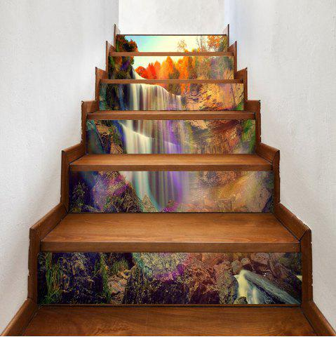 Best Waterfall Rainbow Pattern Decorative Stair Stickers