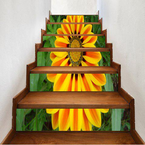 Best Sunflower Pattern Decorative Stair Stickers