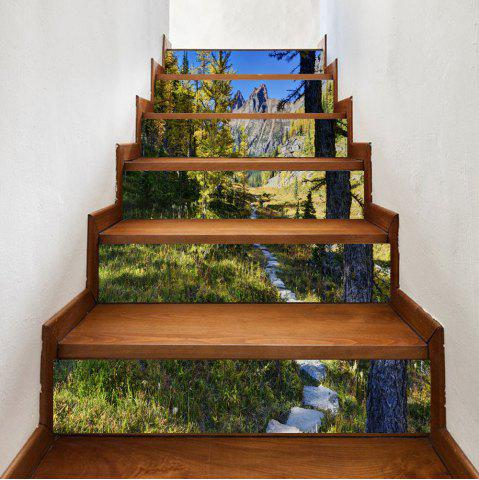 Shops Forest Path Pattern Decorative Stair Stickers