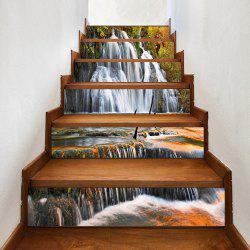 Waterfall Pattern Decorative Stair Stickers -
