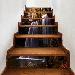 Forest Waterfall Pattern Decorative Stair Stickers -