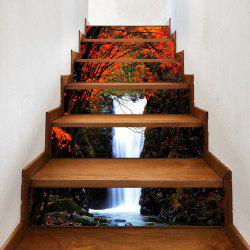 Maple Forest Waterfall Pattern Decorative Stair Stickers -