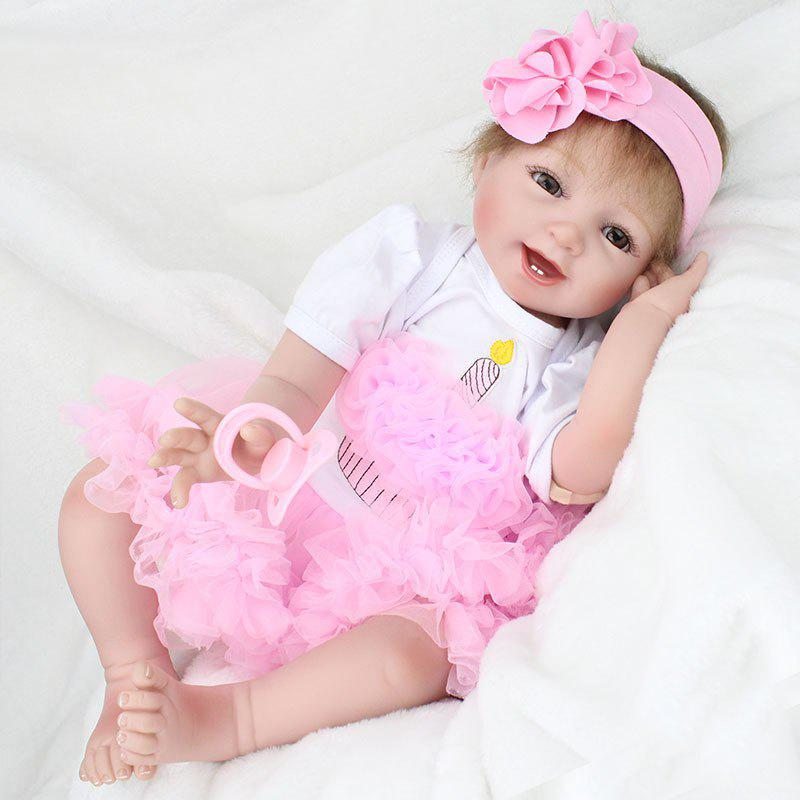 35 Off Reborn Doll Emulational Baby Girl Silicone Early Education Toy Sleeping Help Gift Rosegal