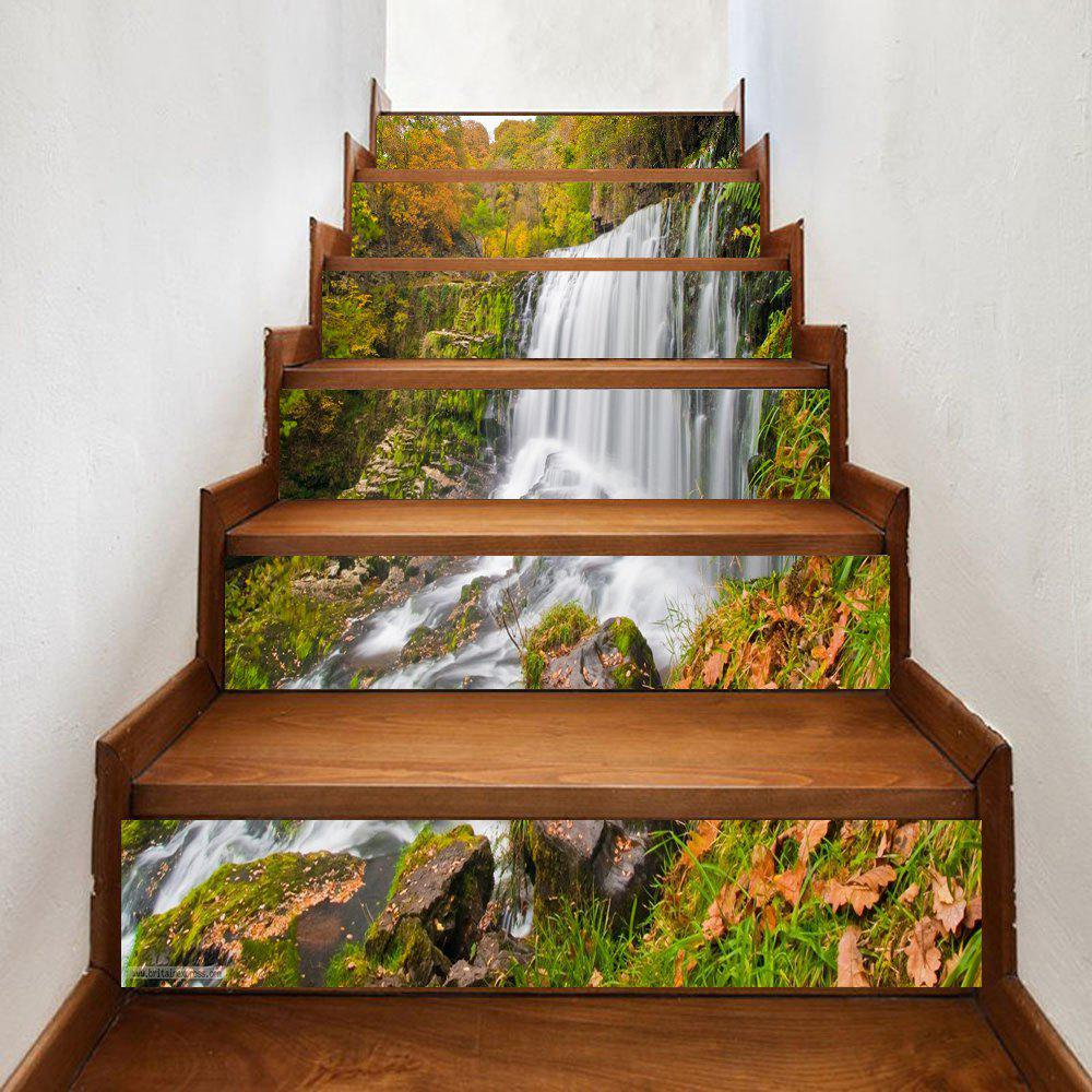Chic Mountain Waterfall Pattern Decorative Stair Stickers