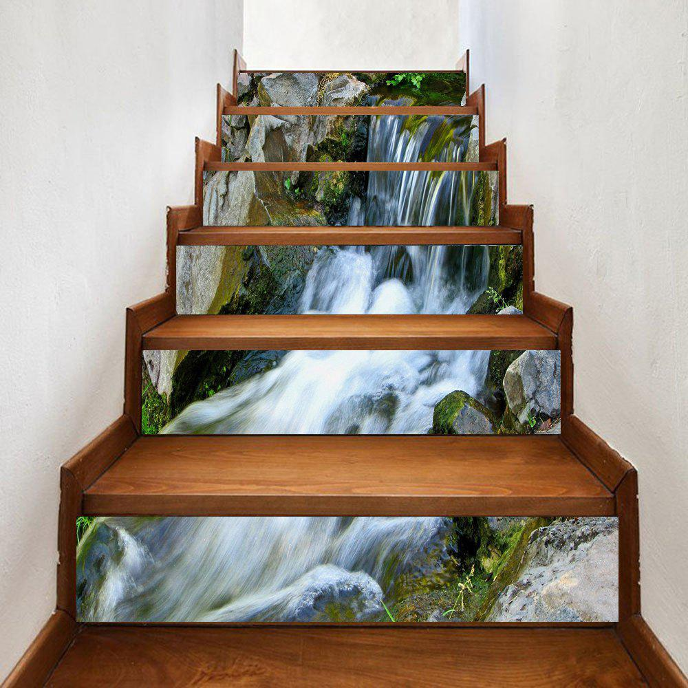 Shops Stone Waterfall Pattern Decorative Stair Stickers