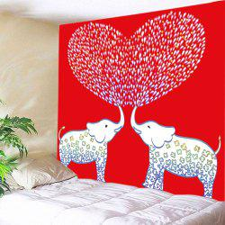 Elephant Lover Print Tapestry Valentine's Day Wall Hanging Art -