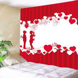 Lover Heart Print Tapestry Valentine's Day Wall Hanging Art -