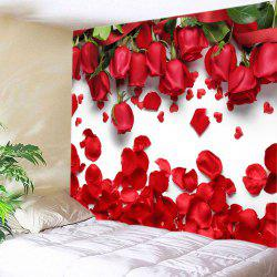 Roses Petals Print Tapestry Valentine's Day Wall Hanging Art -