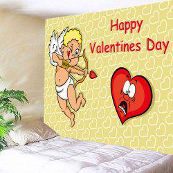 Cupid Print Tapestry Valentine's Day Wall Hanging Art -