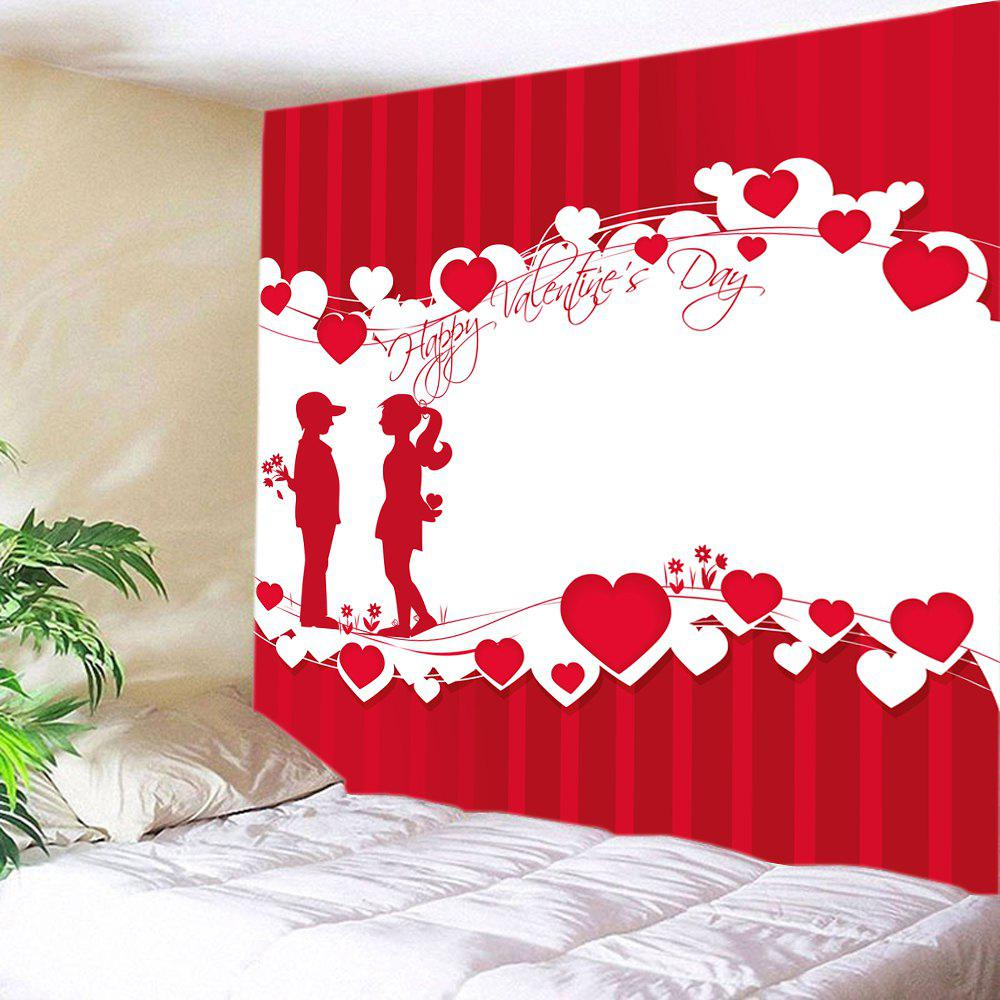 New Lover Heart Print Tapestry Valentine's Day Wall Hanging Art