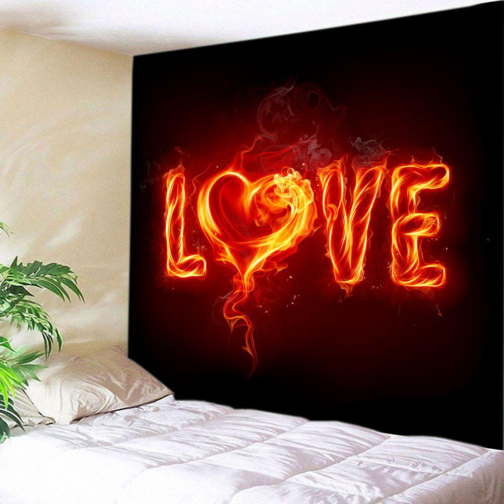 Fancy Valentine's Day Burning Love Print Tapestry Wall Hanging Art