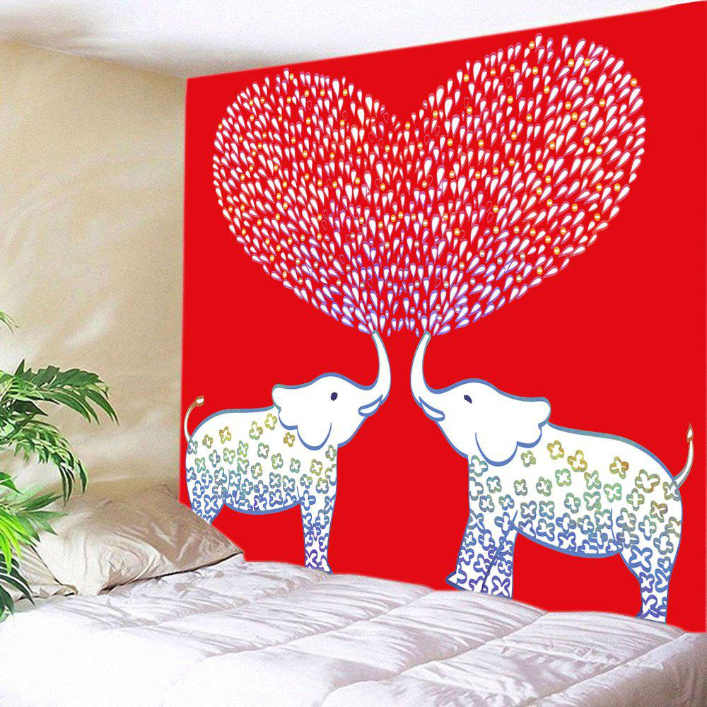 Affordable Elephant Lover Print Tapestry Valentine's Day Wall Hanging Art