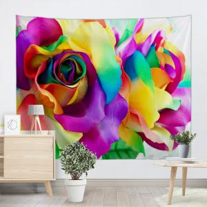 Valentine's Day Colorful Rose Printed Wall Hanging Tapestry -
