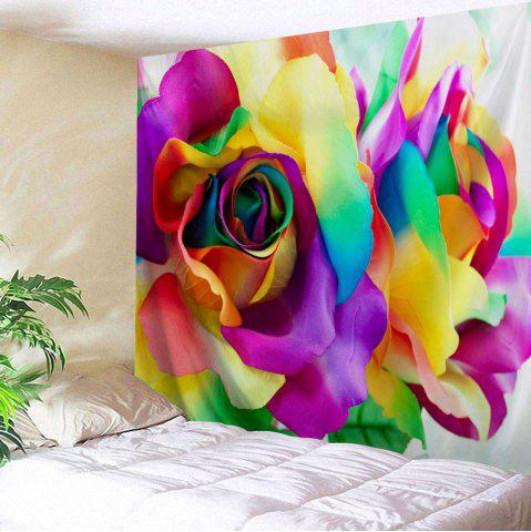 New Valentine's Day Colorful Rose Printed Wall Hanging Tapestry