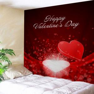 Heart Box Pattern Valentine's Day Wall Art Tapestry -