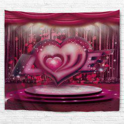 Love Stage Pattern Valentine's Day Wall Art Tapestry -