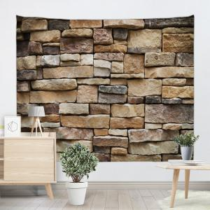 Stones Brick Wall Pattern Tapestry Hanging Decoration -