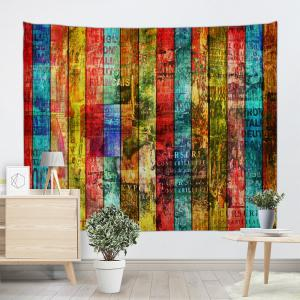 Colorful Woodgrain Print Tapestry Wall Hanging Art Decoration -