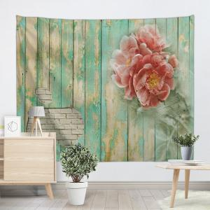 Flowers Wooden Board Print Tapestry Wall Hanging Decoration -