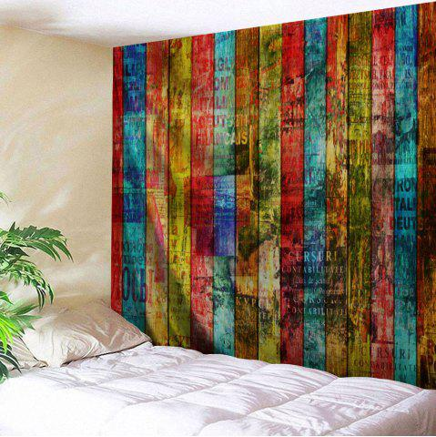 Chic Colorful Woodgrain Print Tapestry Wall Hanging Art Decoration
