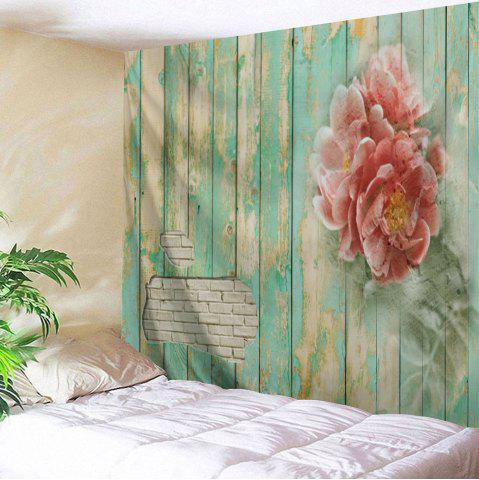 Chic Flowers Wooden Board Print Tapestry Wall Hanging Decoration