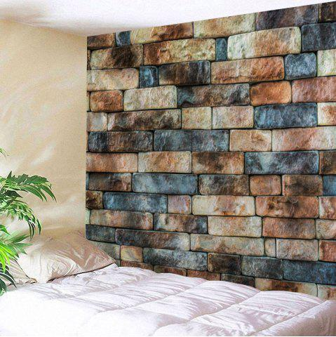 Online Retro Brick Wall Print Tapestry Wall Hanging Art Decoration