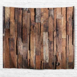 Uneven Wooden Board Print Tapestry Wall Hanging Art Decor -