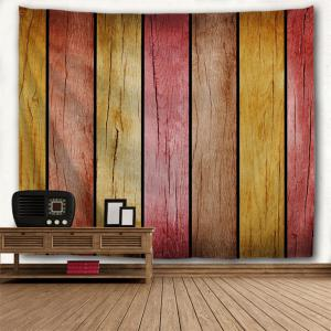 Rainbow Wood Board Printed Wall Art Decor Hanging Tapestry -