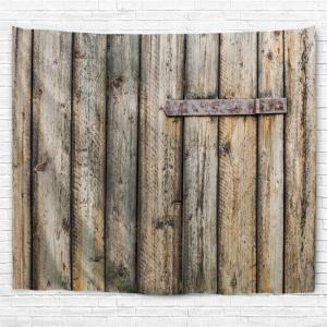Wall Art Decor Shabby Wood Grain Door Printed Hanging Tapestry -